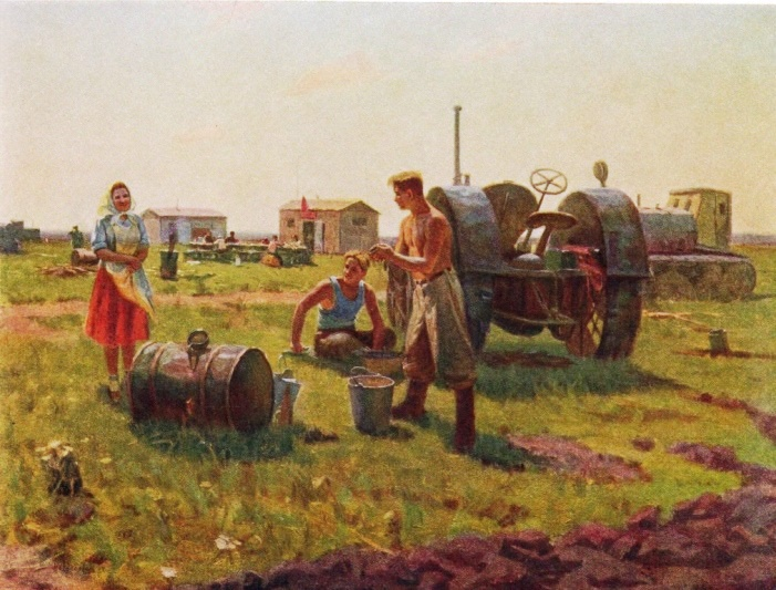 I.M. Novoseltsev. Noon in the field camp