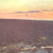 Artist L.S. Rabinovich. Plowed virgin soil. The Omsk Region. Etude