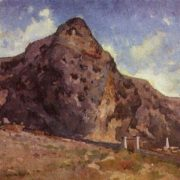 Rocks in the Russian suburb in Bakhchisaray. 1930