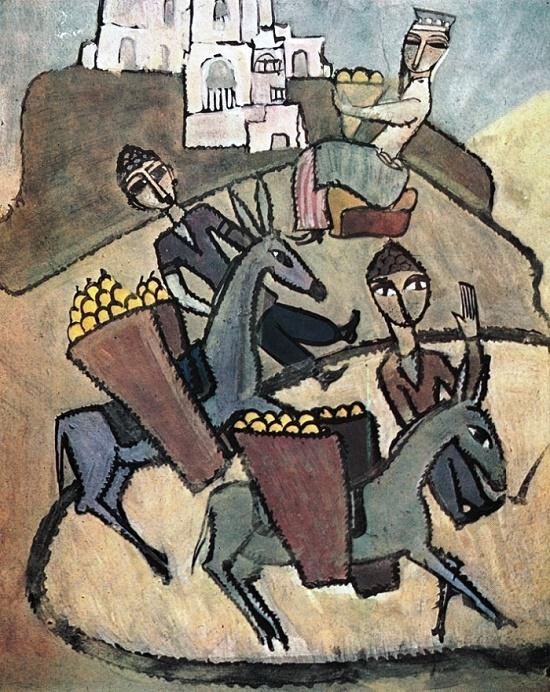 Painting by Soviet Armenian artist Ruben Isaakovich Shaverdyan (1900-1977)