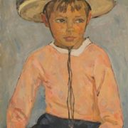 A boy in sombrero