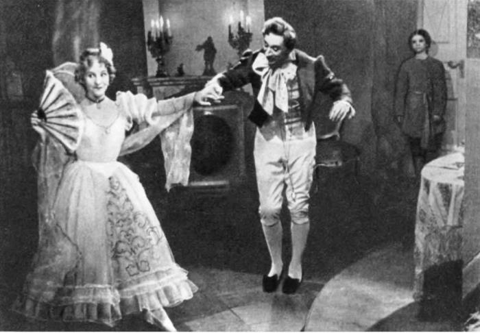 Count Nulin. Film-ballet. Nastasya Pavlovna - O. Lepeshinskaya. Count Nulin - S. Koren