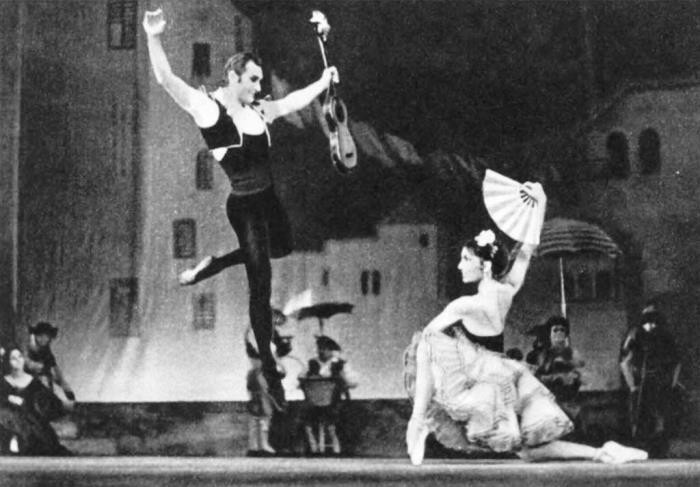 Don Quixote. Scene from ballet. Basil - M. Lavrovsky. Kitri - S. Adyrkhaeva