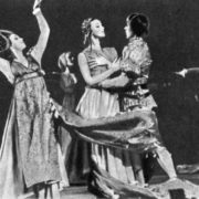 Juliet - L. Gershunova. Lady Capulet - M. Kapustina. Paris - V. Ryabov