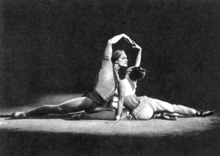 Laili and Majnun. N. Bessmertnova, Kais - V. Vasiliev
