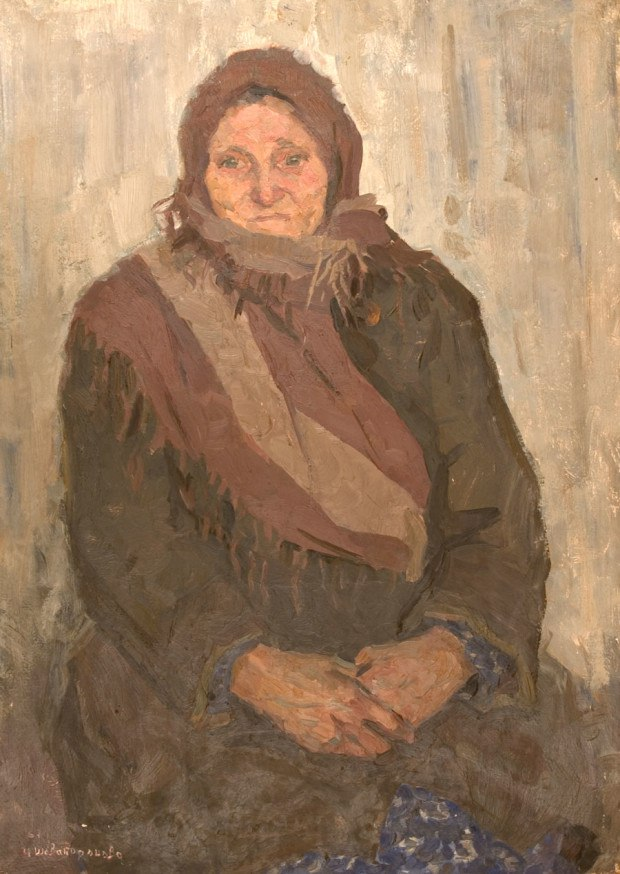 Old woman's portrait