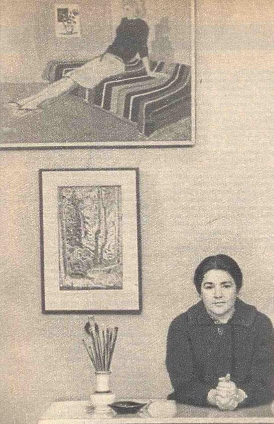 Soviet artist Marina Andreyevna Ivanova (1923, Tiflis - 1967, Moscow)