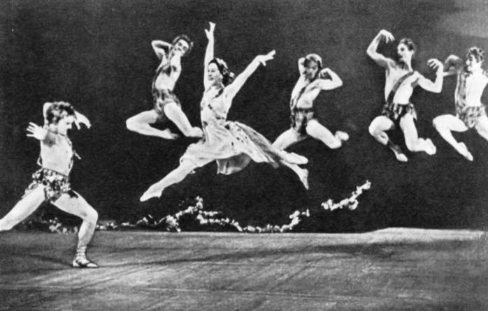 Walpurgis Night. Bacchante - O. Lepeshinskaya. Bacchus - V. Preobrazhensky