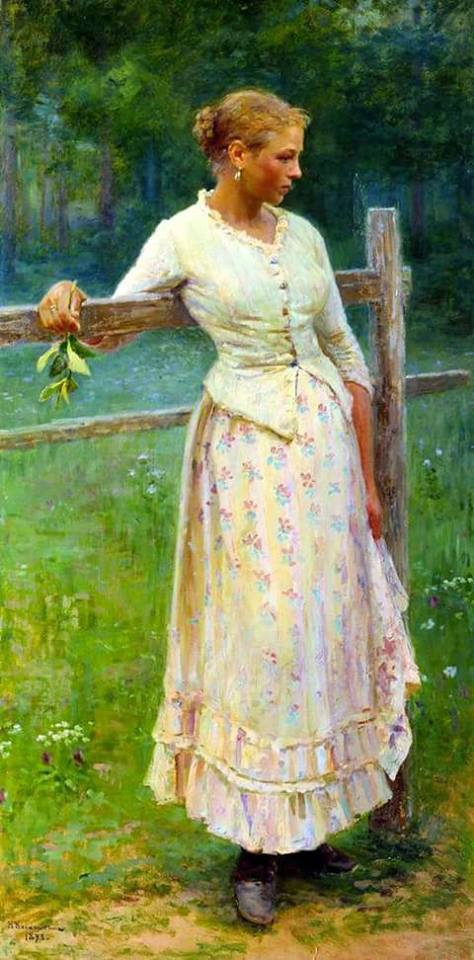 A girl at the fence. 1893