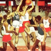 AP Klyavinsh. Basketball 1971. Oil on canvas