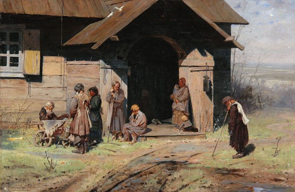 At the chapel. 1883