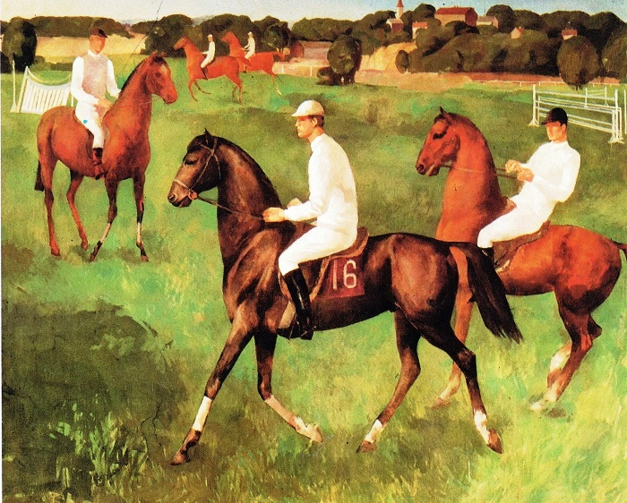 G. K. Liepin. Jockeys 1976. Oil on canvas