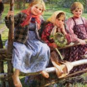 Girlfriends. Children. 1916