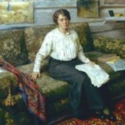 Lidiya Vasilievna Sychkova, artist's wife. Oil on canvas. 1904
