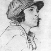 Komsomol girl - rabfakovka. Sangina, coal. 1925