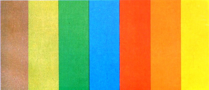 Official color spectrum of the Olympics-80