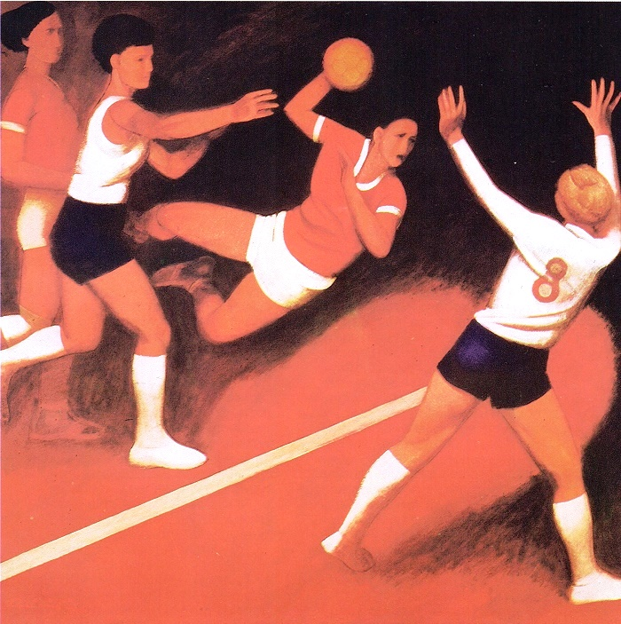 P. P. Postazh. Hand ball 1971. Oil on canvas