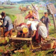 Return from haymaking. 1911