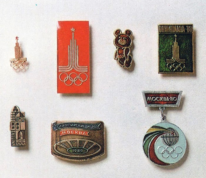 The Olympics-80 badges