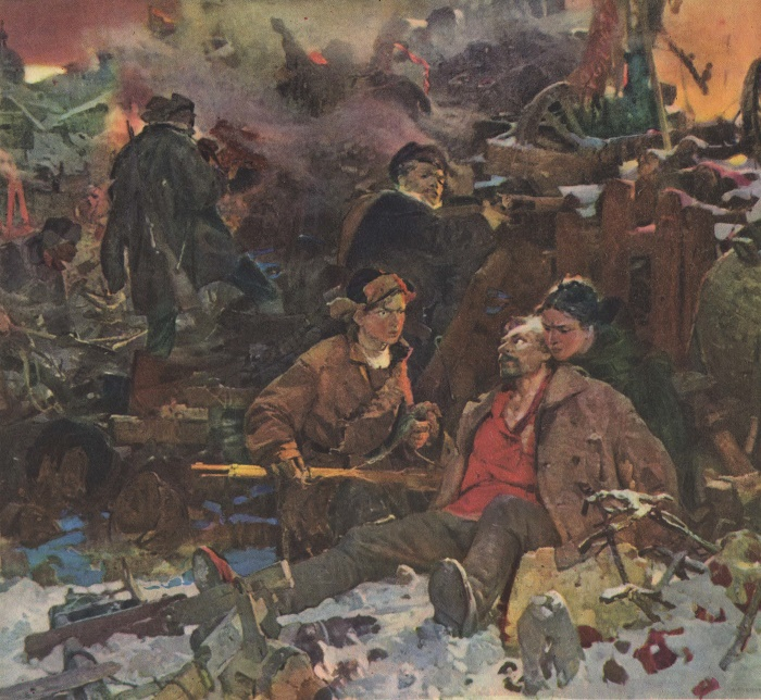 A. Khmelnitsky. Youth of fathers. 1957. All-Union exhibition of Soviet Art to the 40th anniversary of October Revolution