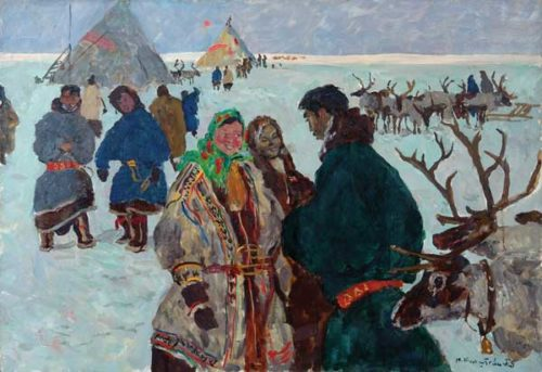 On election day in the tundra. 1954. M. Birshtein