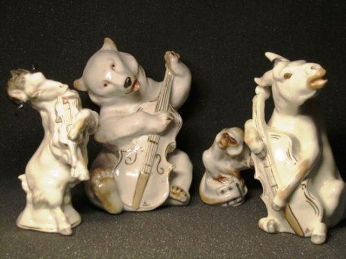 Quartet. Fable of Ivan Krylov. A donkey, a goat, a monkey and a clumsy bear staged a Quartet
