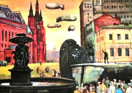 About 4000 times German bombers attacked Moscow in October-November 1941