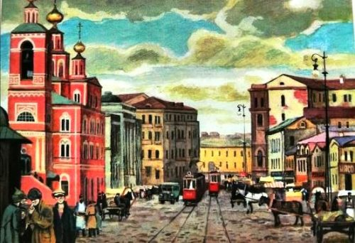 Commercial street of Moscow, Okhotny Ryad
