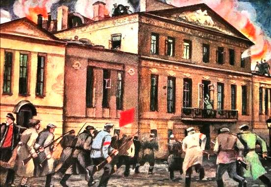 During the Great October revolution of 1917