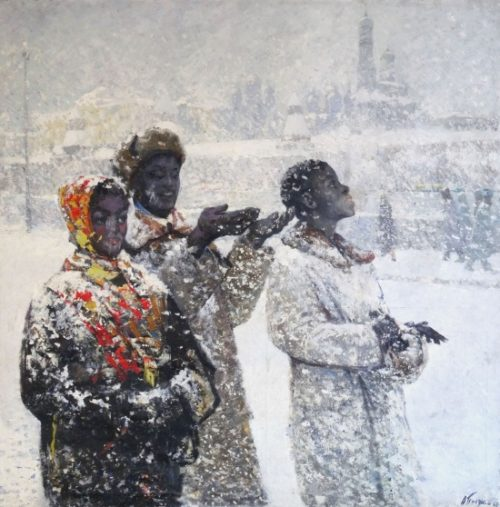 In Moscow near the Kremlin. Russian Snow. 1967