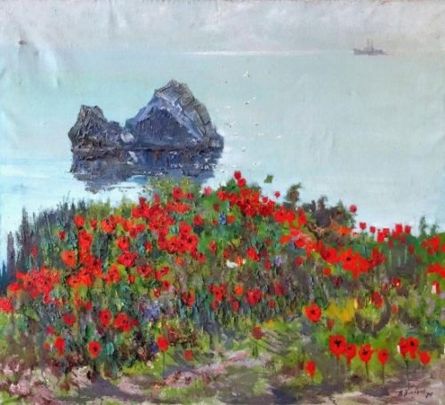 Poppies at the seaside